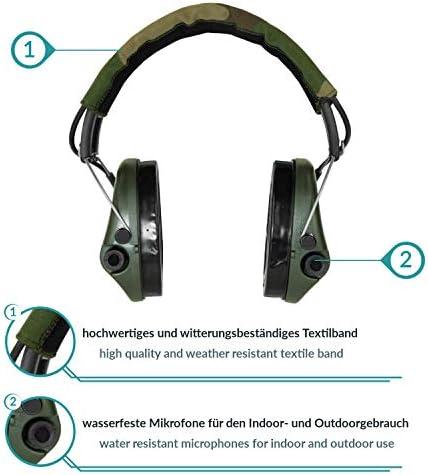 Sordin Supreme PRO X Cuffie Antirumore Attive SOR75302 XG Auricolari Elettronici da Tiro e da Caccia Colore : Verde