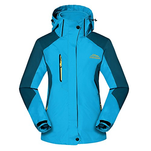 Real Spark(TM) Women 3 in 1 Detachable Fleece Liner Hiking Ski Windproof Outdoor Jacket Blue S