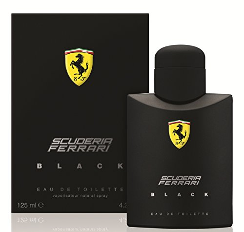 Ferrari Scuderia Black Eau De Toilette Spray For Men, 4.2 Ounce