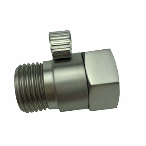 Install Shut Off Valve (Malida Shower Head Shut-Off Valve Ball Valve 1/2-Inch NPT (Brushed Nickel) )