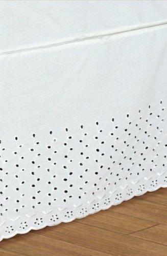 The_Curtain_Shop Elegant Bed Ruffle White Q ()