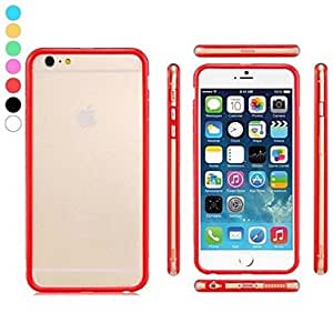MOM Dual Color Style Design Bumper Frame Border TPU Soft Case for iPhone 6 Plus (Assorted Colors) , Blue