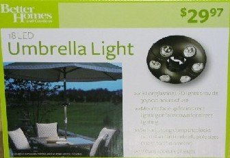 LED UMBRELLA LIGHT BY BETTER HOMES AND GARDENS!