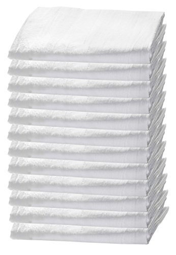 HomeLabels Kitchen 12 Pack Flour-Sack Towels, 100% Pure Rung Spin Cotton, Hand Towels, Multi-Purpose, Highly Absorbent Napkin Spinner
