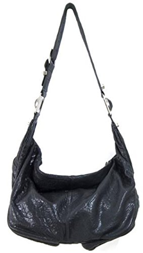 Camera Lush Black Washed Leather Zippered Hobo Shoulder qq7Fzt