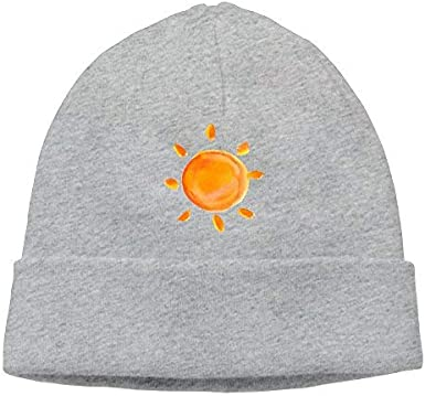 Go Ahead boy Unisex Watercolor Sun Classic Fashion Daily Beanie Hat Skull Cap