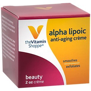 The Vitamin Shoppe Alpha Lipoic AntiAging Beauty Crème Soothes Exfoliates Skin, Apply After Cleansing to Damp Skin Daily (2 Ounce) Alpha Lipoic Acid Cosmetics
