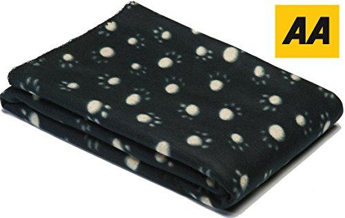Haustierdecke für Hunde / Katzen oder Haustiere weichem Fleece Jumbo pet Decken mit paw Design - bietet Komfort und Wärme für Ihre Haustiere (Schwarz)
