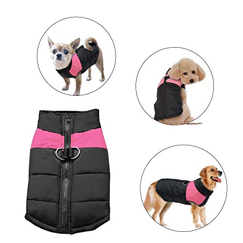 Didog Cold Weather Dog Warm Vest Jacket Coat,Pet Winter Clothes for Small Medium Large Dogs,8, Pink,L Size -