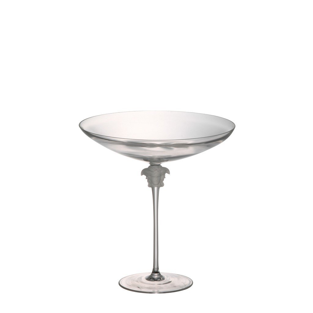 Versace by Rosenthal Medusa Lumiere Clear Footed Candy Bowl