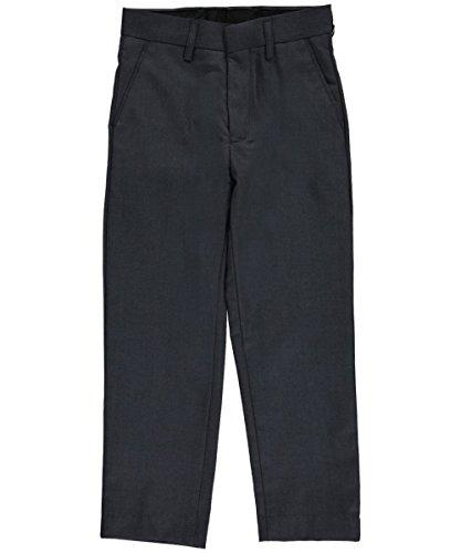 Vittorino Little Boys' Flat Front Dress Pants - - Boys Charcoal Gray Dress Pants
