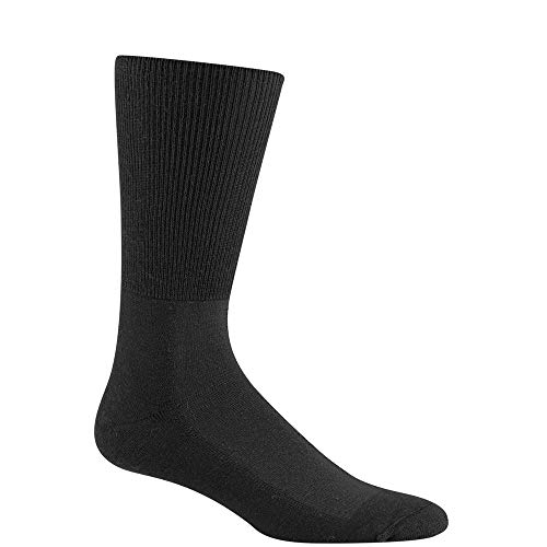 (Wigwam Diabetic Strider Lightweight F1198 Sock, Black - Large)