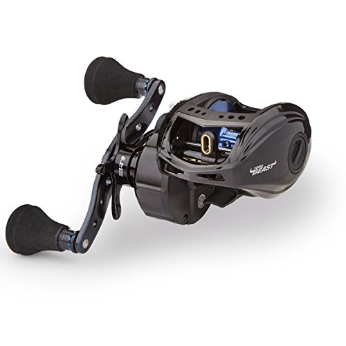 Abu Garcia REVO T2 BST60-HS Revo Toro Beast Low-Profile Baitcast Fishing Reel, 60 - Right-Handed, Blue,Black