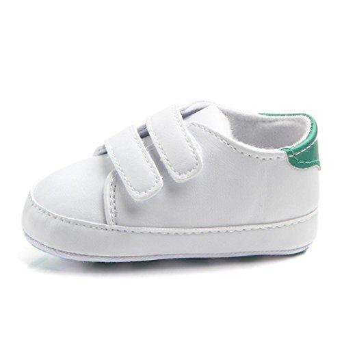 Turnschuhe Babyschuhe Neugeborenen Leder T-Strap Schuhe Sportschuh Jungen Lauflernschuhe Mädchen Krippeschuhe Krabbelschuhe Streifen-beiläufige Wanderschuhe LMMVP Grün