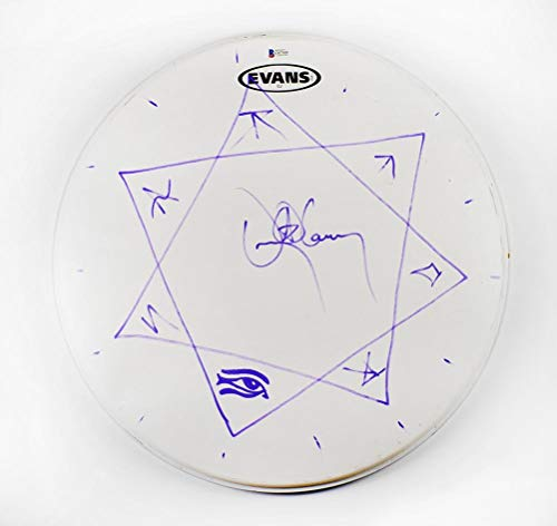 Danny Carey Tool Signed Drumhead Certified Authentic Beckett BAS COA AFTAL ()