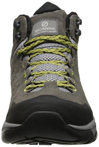 Scarpa Womens Moraine Mid Gtx Hiking Schoen Donkergrijs / Selderij