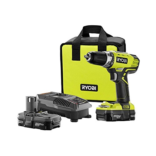 Ryobi P1811 18-Volt ONE+ Lithium-Ion Compact Drill/Driver Kit ZRP1811 (Battery and Charger Included) (Certified Refurbished) (Ryobi Combo Drill compare prices)