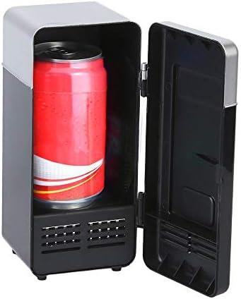 冷蔵庫 保冷庫 ミニ 小型 卓上 USB 缶ジュース用 ペットボトルドリンク用家庭 車 オフィス 旅行 携帯用 便利グッズワイン コーラ ビール ソーダ 飲み物