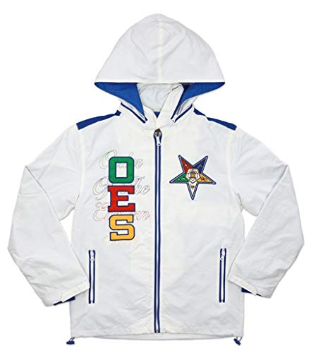 Big Boy Headgear Order of The Eastern Star Sisterhood Windbreaker Jacket Large White
