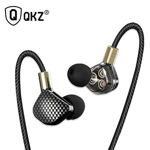 KD6 in Ear Earphone 6 Dynamic Driver Unit Headsets Stereo Sports HiFi Subwoofer Earphones Monitor ()