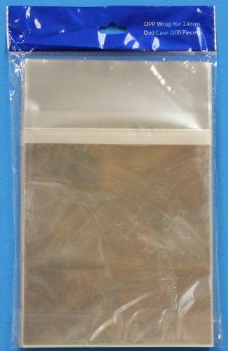 100 OPP Plastic Bag for Standard 14mm DVD Case (Standard DVD Case Plastic (Dvd Bag)