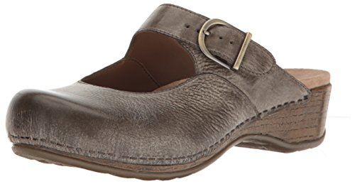 Dansko Women's Martina Mary Jane Flat, Stone Distressed, 39 EU/8.5-9 M US