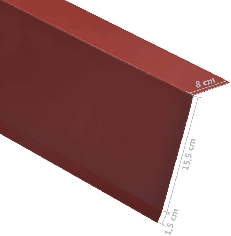 vidaXL 5x Feuilles dAngle /à 90/° en L Corni/ère Protection de Bord de Marche dEscalier Ext/érieur Durable Robuste Aluminium Blanc 50x50 mm