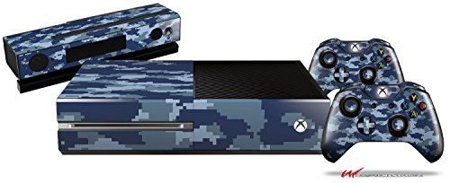 WraptorCamo Digital Camo Navy – Gamer Bundle Decal Style Skin Set fits XBOX One Console, Kinect and 2 Controllers (XBOX HARDWARE NOT INCLUDED) Review