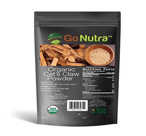 Cat's Claw Powder 1 lb. Organic from Peru USDA Certified Uncaria Tomentosa ()