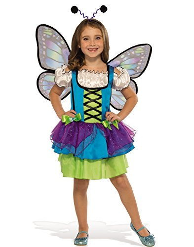 Rubies Costume Child's Glittery Blue Butterfly Costume