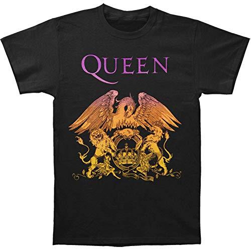 Bravado Queen-Bohemian Rhapsody Gradient Crest Short Sleeve T-Shirt-Medium Black ()