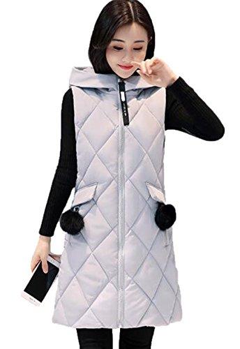 なしで囲まれたフレアGuDeKe ダウンベスト レディース ロング ダウンジャケット ノースリーブ 厚手 アウター フード付き ロングベスト 防寒ジャケット 細身 軽量 暖かい 中綿 着痩せ おしゃれ 通勤 ファッション
