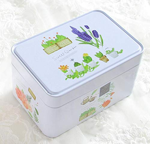 Storage Canisters for Tea Coffee Storage Jars Portable Rectangular Storage Box Tea Canister Gift Tinplate Box(Sweet - Canister Tea Garden