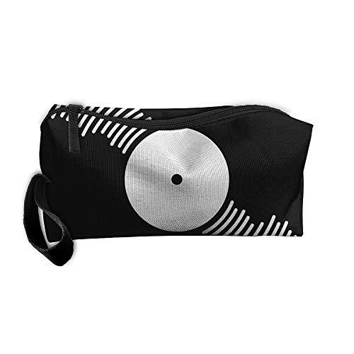 - Jessent Coin Pouch Vinyl Record Pen Holder Clutch Wristlet Wallets Purse Portable Storage Case Cosmetic Bags Zipper