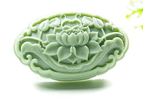 Longzang Lotus Flower Mould S429 Craft Art Silicone Soap Mold Craft Molds DIY Handmade Candle Molds - Flower Silicone Candle