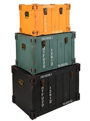 ts-ideen-3er-Set-Container-Industrie-Design-Kommode-Schrank-Aufbewahrungskiste-Truhen-Boxen-in-Schwarz-Gelb-Grn
