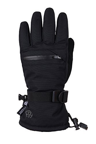 686 Youth Heat Insulated Glove | Unisex | Waterproof Ski Glove | Black - S