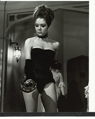 The Avengers Diana Rigg as Emma Peel in Hellfire Club with Snake 8 x 10 Photo Emma Snake