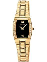 Seiko Womens SUJE82 Diamond Gold-Tone Watch