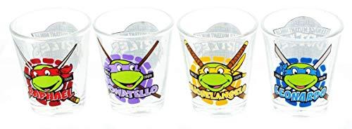 (Teenage Mutant Ninja Turtles Name Face Shot Glass Set)