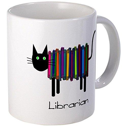 CafePress Librarian Book Cat.PNG Mug - S White
