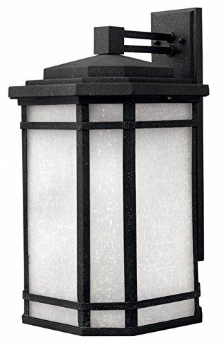 Cherry Creek Outdoor Wall Lantern in Vintage Black Energy Saving: No