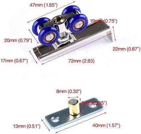 Hot 2Pcs Hardware Accessories 4 Wheel Sliding Door Wardrobe Pulley Wooden Door Sliding Door Small Hanging Wheel Silent Sliding
