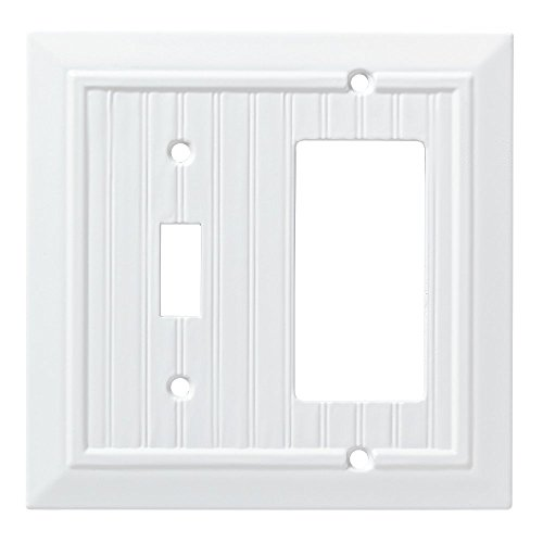 Franklin Brass W35270-PW-C Classic Beadboard Switch/Decorator Wall Plate/Switch Plate/Cover, Pure White (Renewed) ()