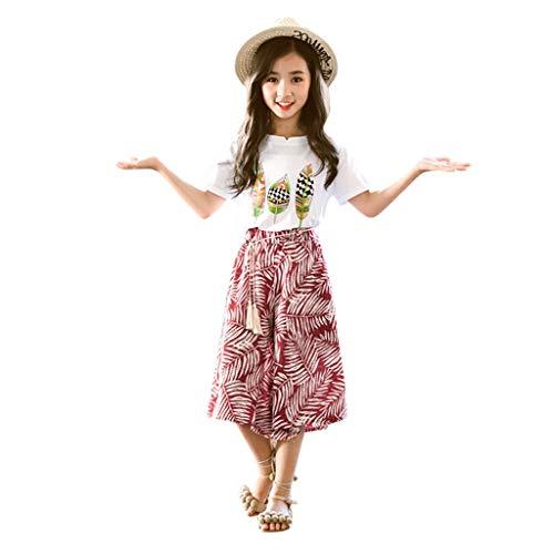 (TIFENNY 2PCS Toddler Baby Girls Outfits Clothes Summer Princess Dress+Headband Sets)