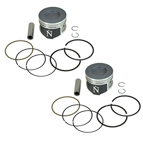 (Namura, NA-20062, 2 Piston Kits Kawasaki KAF620 Mule 2500 2510 3000 3010 4000 4010 Standard Bore 76mm)