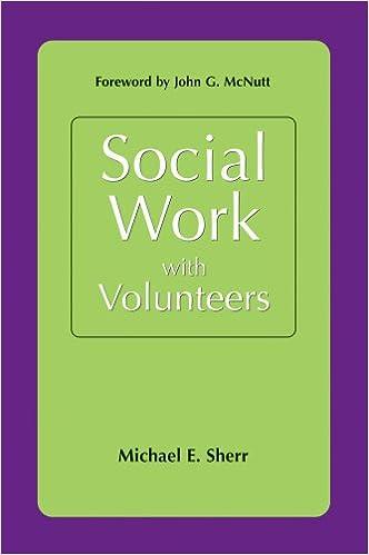 Social Work with Volunteers