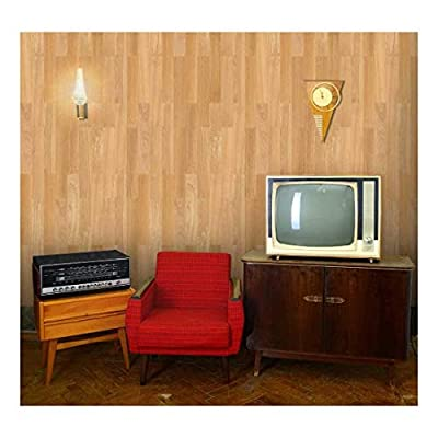 Delightful Artistry, Vertical Soft Brown Wood Textured Paneling Pattern Wall Mural Removable Wallpaper, Quality Creation