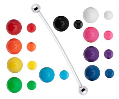Surgical Steel balls Pregnancy ring with 10 Sets of neon balls red, orange, yellow, green, aqua, blue, purple, pink, black, white Bioflex all plastic adjustable flexible great for Pregnant PTFE Belly Navel piercing bar Ring 14g