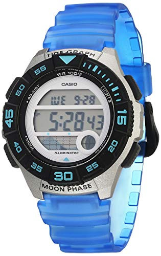 Casio Women's 10 Year Battery Quartz Resin Strap, Blue, 19.9 Casual Watch (Model: LWS-1100H-2AVCF)